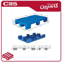 پالت پلاستیکی کد c31